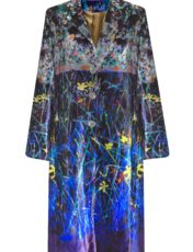 Pazuki – Sprigs Petal Blue Long Velvet Coat