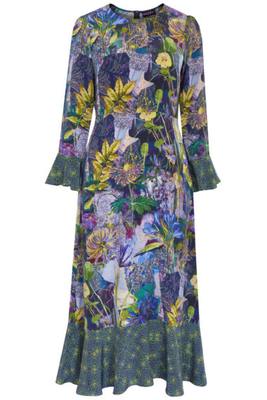 PAZUKI Fortuna Secret Garden Silk Dress