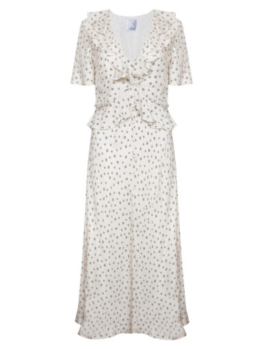 Kelly Love Elegant Blooms Midi Length Dress